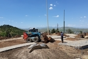 آغازعملیات محوطه سازی و احداث فضای سبز جنب مسجد نور در پارک جنگلی آبیدر