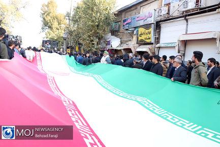 راهپیمایی مردمی حمایت از اقتدار و امنیت در کرمانشاه