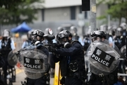 Hong Kong police fired tear gas at protesters