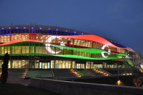 اهتزاز پرچم ایران در دهکده بازیهای کشورهای اسلامی
