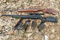 دستگیری 2 متخلف شکار پرندگان در شهرستان دهاقان