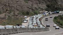 ترافیک نیمه سنگین در محور هراز و آزادراه قزوین به کرج