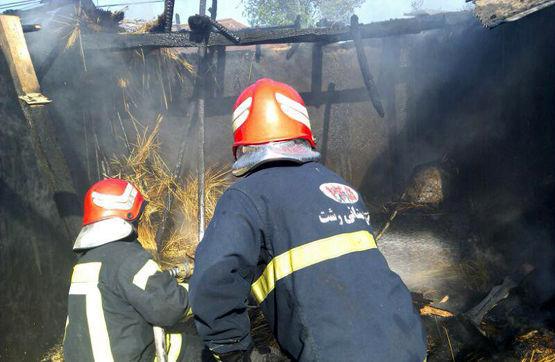 امداد رسانی  در ۱۱ مورد حریق و حادثه توسط آتش نشانان رشت/ پاسخگوی ۴۱۷ تماس شهروندان