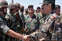 بازدید وزیر دفاع سوریه از مناطق عملیاتی در جنوب