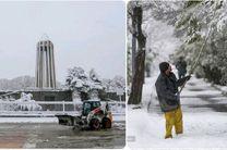 آماده باش تمامی عوامل شهردار ی/برف روبی با بیش از 500 نیرو و100 دستگاه انواع ماشین آلات برف روب