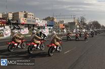 رژه موتوری نیروهای مسلح همزمان با ۳۱ شهریورماه در قم