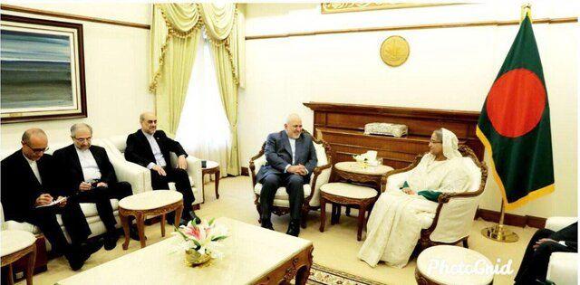 دیدار و رایزنی ظریف با نخست وزیر بنگلادش