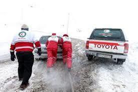 هلال احمر اصفهان به ۲۰۰ فرد گرفتار در برف و باران امدادرسانی کردند