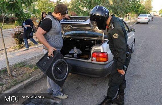 پلیس با وسایل نقلیه ایجاد کننده آلودگی صوتی برخورد میکند