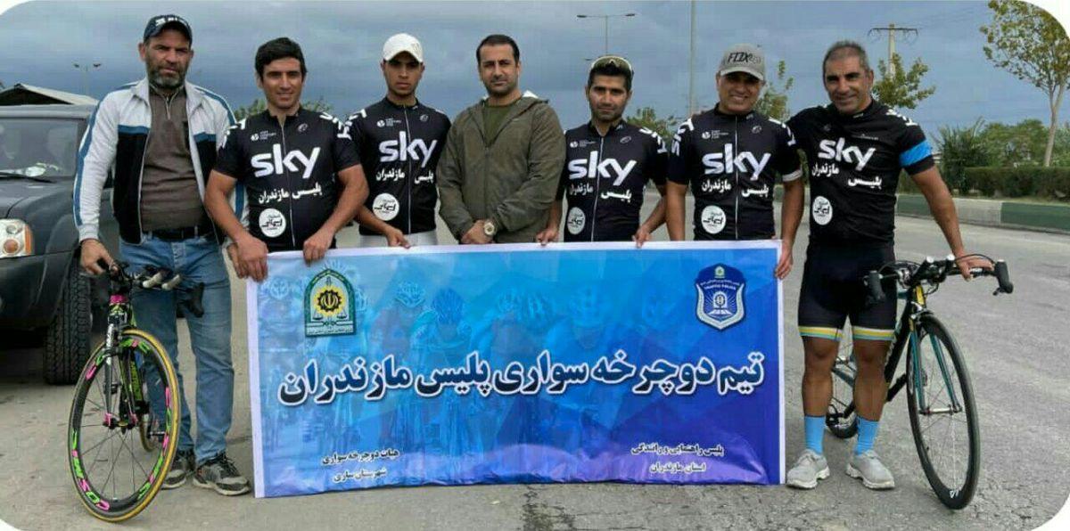 سومین مرحله از لیگ دوچرخه سواری با قهرمانی تیم پلیس مازندران پایان یافت