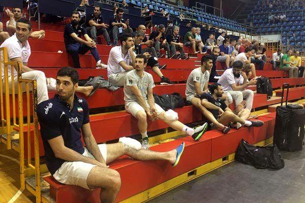 ملیپوشان برای تماشای بازی صربستان و برزیل در سالن ماندند