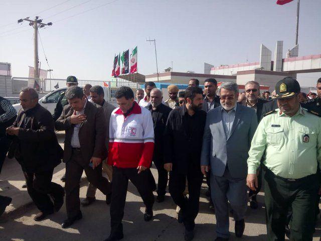 وزیر کشور از پایانه مرزی چذابه بازدید کرد