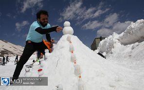 جشنواره آدم برفیهای خوشحال در توچال