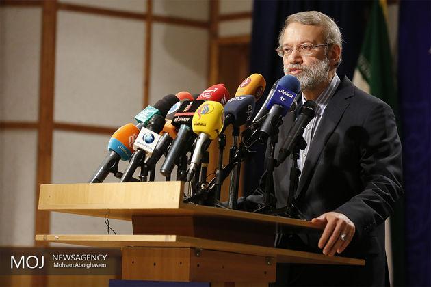 لاریجانی در مراسم افتتاح باغ کتاب تهران سخنرانی میکند