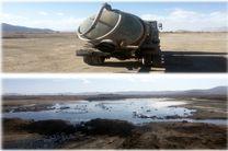 توقیف یک دستگاه تانکر حمل فاضلاب صنعتی در مبارکه