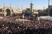 شهید شهروز مظفرینیا در حرم حضرت معصومه(س) به خاک سپرده شد