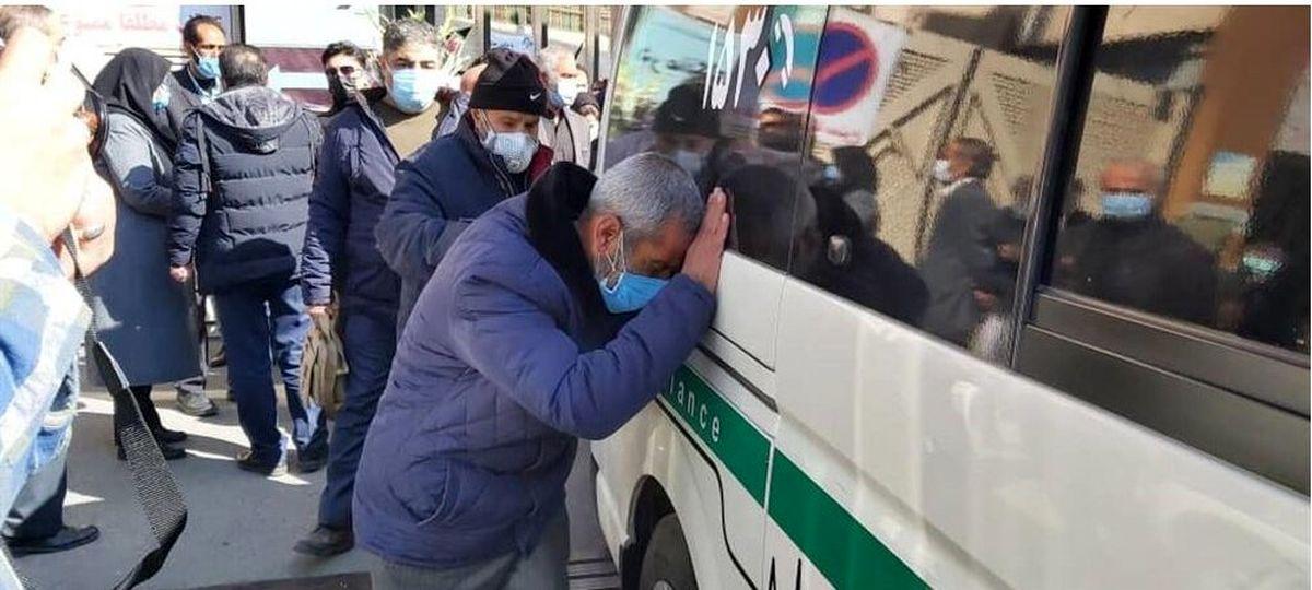 تشییع پیکر شهید مدافع سلامت «فرانک داودی» در کرج