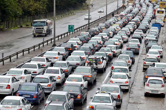 ترافیک نیمه سنگین در آزادراه تهران-کرج و کرج-قزوین