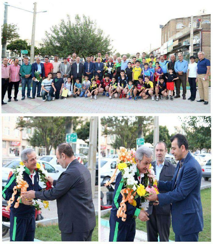 استقبال مسئولین و جامعه ورزشی کردستان از مربی تاریخ ساز تنیس روی میز ایران