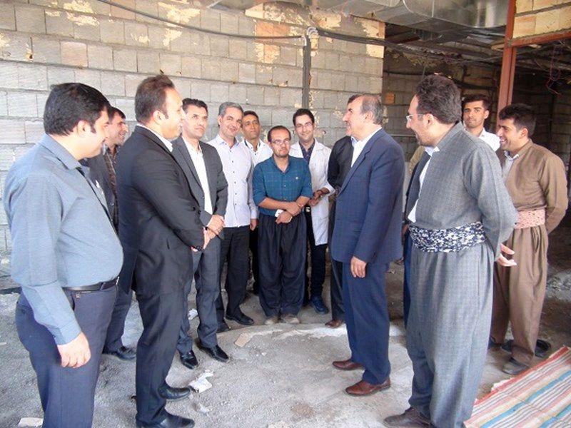 پیشرفت 70 درصدی ساخت درمانگاه شهر شاهو در روانسر
