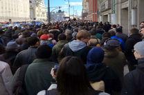 تظاهرات مردم روسیه در آستانه سفر نخست وزیر ژاپن به این کشور