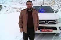 بارش برف و ترافیک سنگین در جاده چالوس