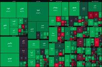 شاخص بورس در جریان معاملات امروز ۲۷ آبان ۹۹/ بورس همچنان سبز است