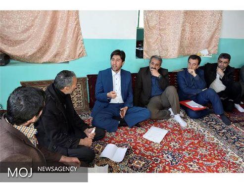 دیدار مردمی فرماندار شهرستان قروه با اهالی روستای زنگ آباد
