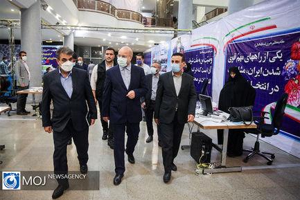 بازدید رییس مجلس از ستاد انتخابات کشور