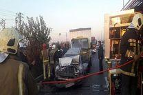 جزئیات برخورد پراید با وانت و کامیونت در بزرگراه شهید لشکری