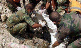 کشف گور دسته جمعی متعلق به نیروهای ارتش سوریه آزاد در ادلب