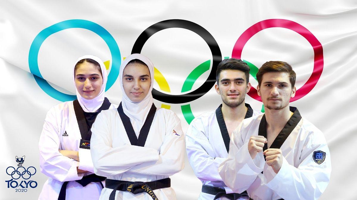 ترکیب نهایی تیم ملی تکواندوی ایران در المپیک اعلام شد