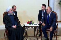 روسای جمهور ایران و قزاقستان بر ضرورت توسعه همه جانبه روابط تهران – آستانه تاکید کردند