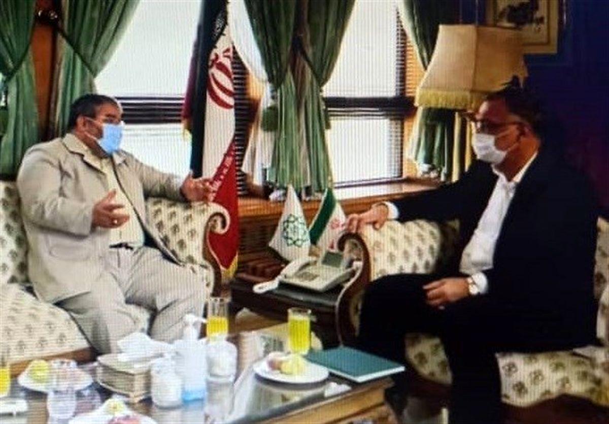 دیدار سردار جلالی با شهردار تهران