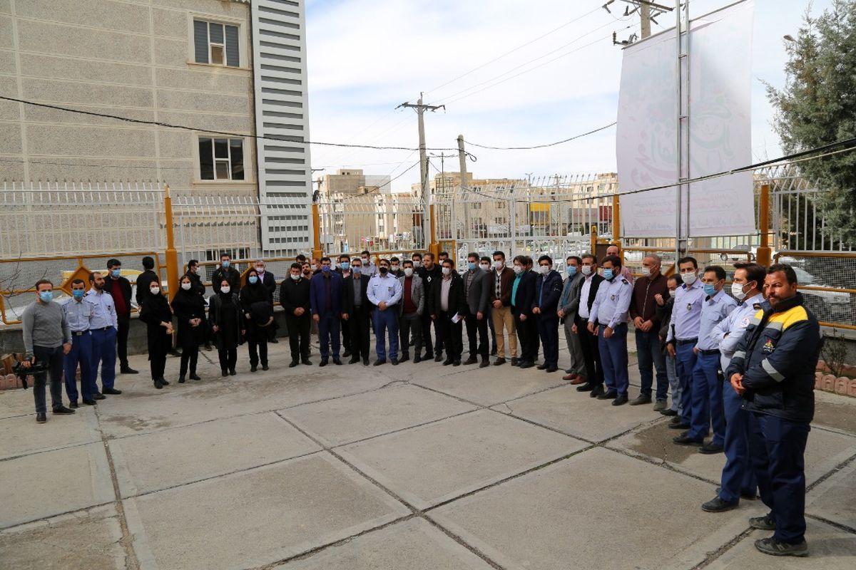 اجرای رزمایش خودحفاظتی ادارات در شرکت گاز استان ایلام