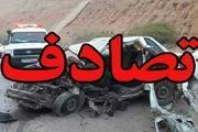 مصدومیت 8 نفر در تصادف دو سواری پراید و پژو در لنجان