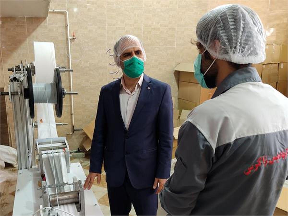 ماسک سه لایه جراحی در کرمانشاه به تولید نیاز روزانه کرمانشاه میرسد