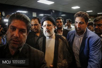 بازدید سید ابراهیم رئیسی از ستاد انتخابات کشور