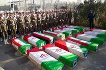 مراسم تشییع پیکر شهدای نیروی هوایی ارتش برگزار شد