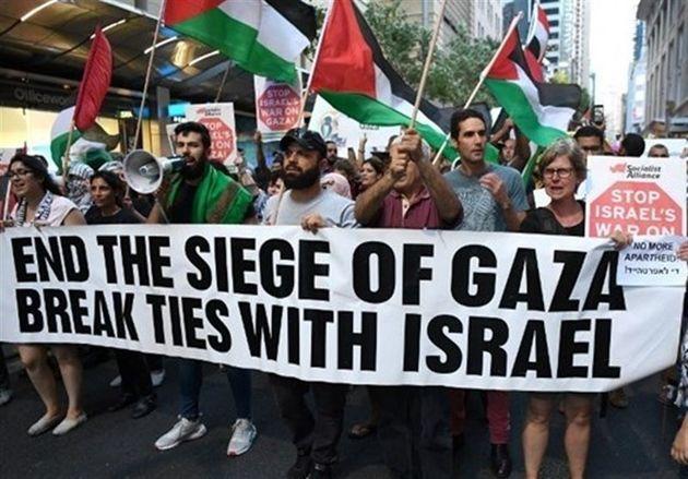تظاهرات مردم استرالیا در اعتراض به سفر نتانیاهو