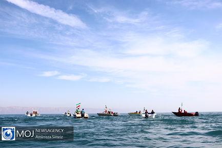 ۲۲ بهمن دریایی در جزیره کیش