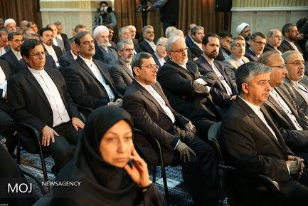 دیدار وزیر و مسئولان وزارت امور خارجه با مقام معظم رهبری