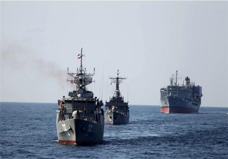 برگزاری مراسم استقبال از ناوگروه 56 نیروی دریایی