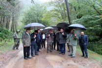 آغاز عملیات بهسازی راه جنگلی آبشار لاتون