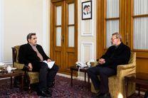 لاریجانی با شهردار تهران دیدار کرد