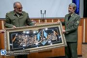 حضور امیر حاتمی وزیر دفاع در دانشگاه دافوس ارتش