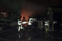 مخزن 18 هزار لیتری روغن در شهر قدس طعمه حریق شد