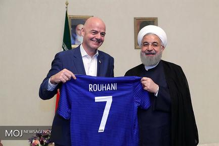 دیدار رییس فدراسیون بینالمللی فوتبال با رییس جمهوری