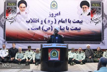 تجدید میثاق فرماندهان نیروی انتظامی با آرمانهای امام (ره)