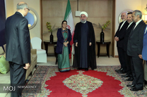 دیدار روحانی با وزیر خارجه هند